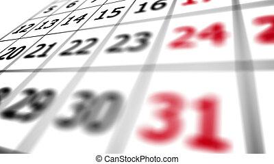31st date on a calendar.