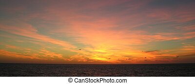 End of day - Caribbean sunset...