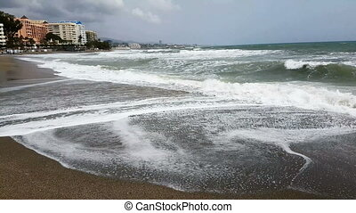 End of holiday season on a beach resort, Spain