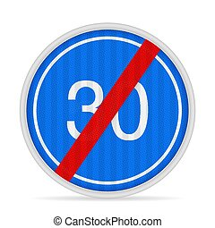 End of minimum speed road sign