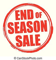 End of season sale grunge rubber stamp