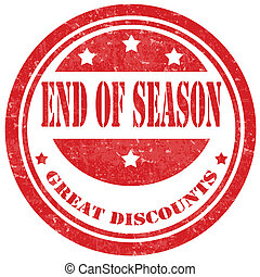 End Of Season-stamp