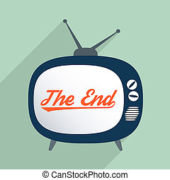 End of story - Concept for everything has an ending, arts,...