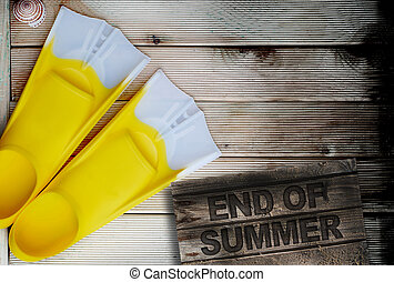 end of summer concept