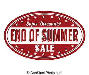 End of summer sale stamp - End of summer sale grunge rubber...
