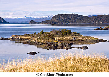End of the Fireland, Tierra del Fuego. Lapataia Bay in Tierra del Fuego. Lapataia is the name of the place, where the Panamerican highway is ending, the road that takes you from Alaska to Fireland