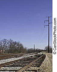 End of the Line 110301_2394 - Railroad tracks end in pile of...
