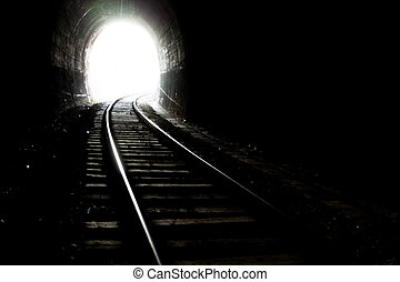 End of the tunnel - Natural light at the end of the tunnel.