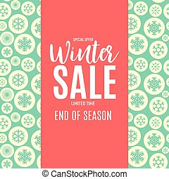 End of Winter Sale Background, Discount Coupon Template....