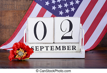 End of WWII 2 September 1945 Calendar Date with United...
