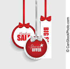 End of year sale savings labels set. Modern Style template Desig