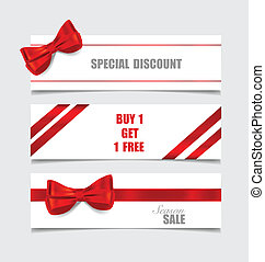 End of year sale savings labels set, price tag, sale coupon, vou