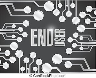end user circuit board white board illustration design over...