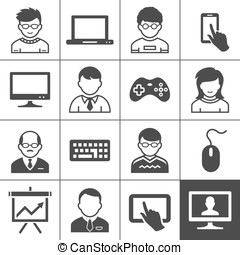 End-user devices - Personal user devices and users. Vector...