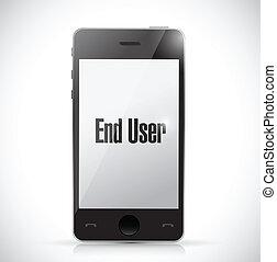 end user phone sign illustration design