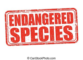Endangered species grunge rubber stamp