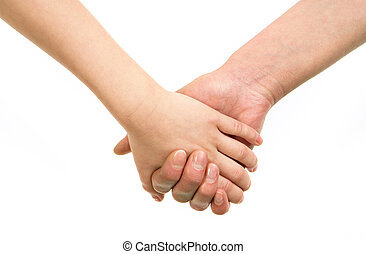 Endearment - Image of mom?s hand holding the one of her...