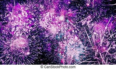 Endless Fireworks Loop - Looped Colorful firework explosions...