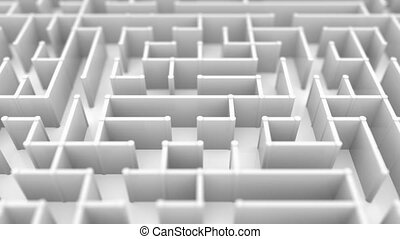 Endless flight over a big maze. Loopable 3D animation -...