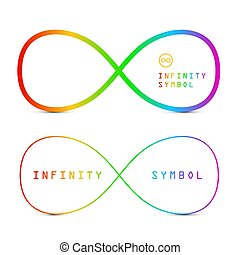 Endless Icons. Colorful Vector Infinity Symbols Isolated on White Background.