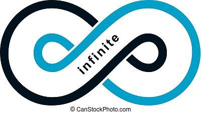 Endless Infinity Loop vector symbol, conceptual logo special...