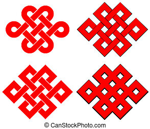 Endless knot isolated on white background