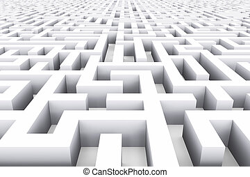 Endless labyrinth - Creative abstract success, marketing,...