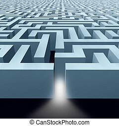 Endless Labyrinth maze showing the concept of Business...