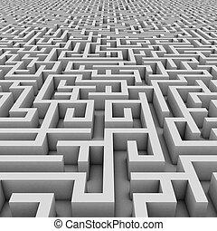 endless maze 3d illustration