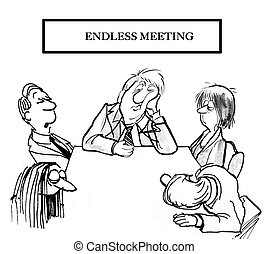 Endless meeting - Workers are tired at meeting