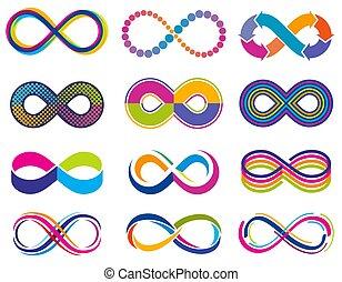 Endless mobius loop infinity vector concept symbols....