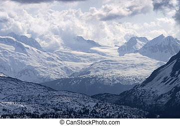 Endless Mountains in Alaska - A mountain scene that seems to...