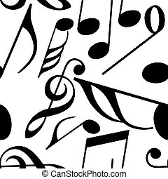 Endless music pattern made from music notes