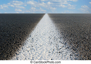 Endless Road - Abstract view of a road stretching off to...