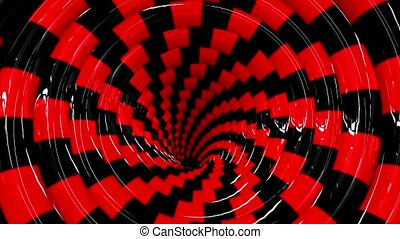Endless rotating hypnotic spiral loopable animation