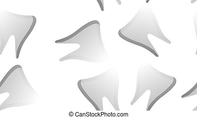 Endless seamless pattern of medical scientific medical therapeutic items dental tooth on a white background. Vector illustration