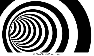 Endless Tunnel black white able to loop seamless 4k