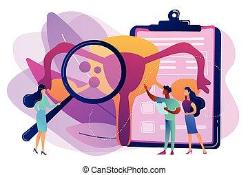 Endometriosis concept vector illustration.