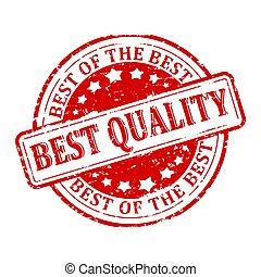 endommagé, timbre, -, rouges, rond, mieux, qualité