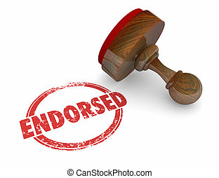 Endorsed Product Stamp Word Endorsement 3d Illustration