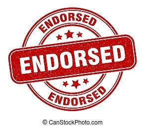 endorsed stamp. endorsed label. round grunge sign