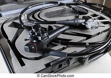 endoscope, dans, les, case.