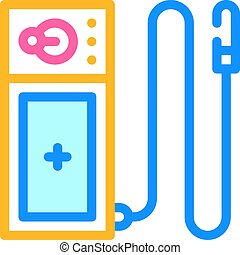 endoscope tool color icon vector. endoscope tool sign. isolated symbol illustration