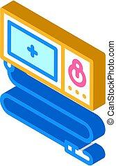 endoscope tool isometric icon vector. endoscope tool sign. isolated symbol illustration