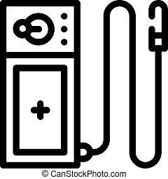 endoscope tool line icon vector. endoscope tool sign. isolated contour symbol black illustration