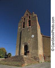 Endoufielle Village, Church , Gers