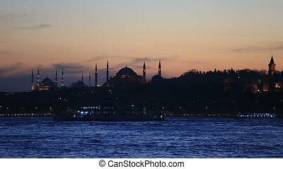 endroit célèbre, scène, istanbul