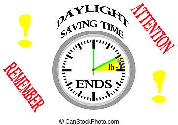 ends., 日光, セービング, 時間