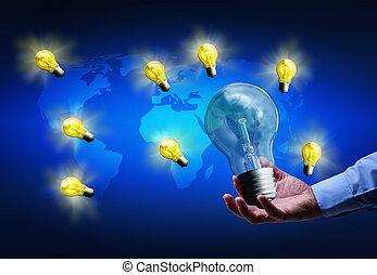 enduisage, bon, idées, concept