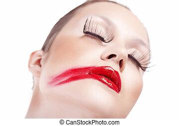 enduit, rouge lèvres